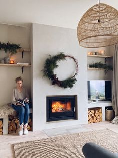 Renovation Diary: Our Living Room and Fireplace Revamp — Malmo & Moss Home Fireplace, Fireplace Remodel, Living Room With Fireplace, Fireplace Design, Home Living Room, Fireplace Ideas, Living Room With Stove, Cosy Living Room Decor, 1930s Fireplace