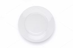 Empty white plate by AlexZaitsev on @creativemarket