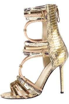 SERGIO ROSSI gold sanfals  #fashion #heels #shoes  For luxury custom made shoes visit www.just-ene.com