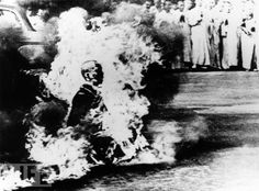 One of the most critical images of the Vietnam War to influence American views - Self Immolation of Buddhist monk Thich Quang Duc in January 1963