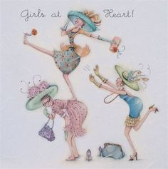 Cards » Girls at Heart » Girls at Heart , Ladies Who Love Life ... Berni Parker funny cute Berni Parker Designs