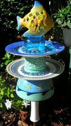 Garden Yard Art Garden Stake Vintage Garden by Sassy3Sisters.