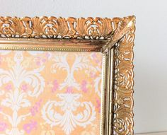 Vintage Gold Picture Frame with Filigree Design 5x7 by RetroTiles #baroque #ornate #filigree #picture frame #5x7 #wall hanging #art #vintage #antique