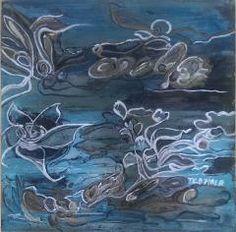 """Str. 40 x 40 x 3 cm - Akryl """"Sea the flow"""" www.fiala.dk"""