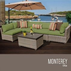 TKC Monterey 6 Piece Outdoor Wicker Patio Furniture Set -- Read more reviews of the product by visiting the link on the image. (This is an affiliate link) #OutdoorFurniture