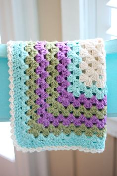 Baby Blanket Granny Square Baby Blanket in by DaisyCottageDesigns, $65.00