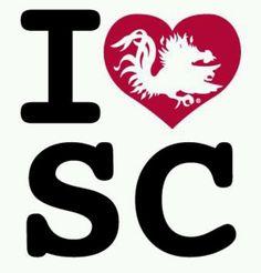 I Love South Carolina Gamecocks