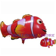 8PCES CLOWN FISH BALLOONS