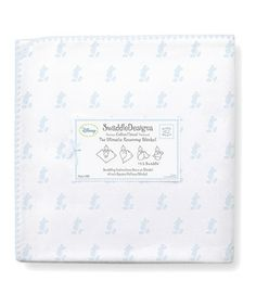 Loving this 42'' x 42'' Pastel Blue Disney's Little Mickey Ultimate Receiving Blanket® on #zulily! #zulilyfinds
