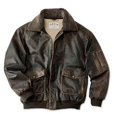 Just found this Vintage Leather Flight Jacket - The Spirit Leather Flight Jacket -- Orvis on Orvis.com!