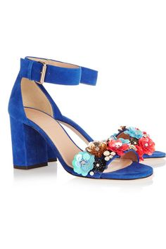 J.Crew | Collection embellished suede sandals | NET-A-PORTER.COM