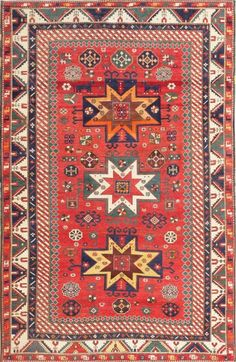Antique Caucasian Kazak Rug : Lot 13