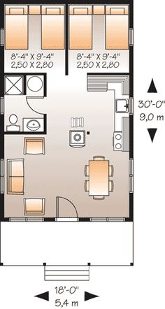 Possible layout - with a few adjustments (only 1bedroom)