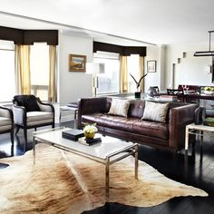 Cow Hide Rug Office Design, Pictures, Remodel, Decor and Ideas - page 12