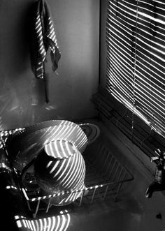 Dishes on kitchen sink/ Mark Strizic. Monochrome Photography, City Photography, Black And White Photography, White Sink, Black N White Images, Black White, Fun Shots, Great Photographers, Photos For Sale