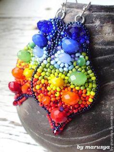 серьги `Краски лета`. Сочные радужные серьги подарят великолепное настроение Вам и окружающим) Очень сочные, обворожительные, яркие и…