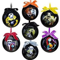 Disney Tim Burton Nightmare Before Christmas Tree Decoration Ornaments Set of 7 | eBay