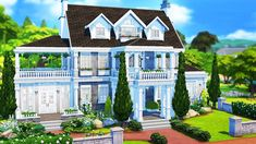 Sims 4 Houses, Big Houses, Sims 4 College, Sims 4 House Plans, University Housing, Sims House Design, Sims 4 Cc Furniture, Sims 4 Build, House Blueprints
