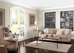Front room paint ideas living room and hallway paint colors best Hallway Paint Colors, Behr Paint Colors, Room Paint Colors, Paint Colors For Living Room, Wall Colors, Casual Living Rooms, My Living Room, Cozy Living, Mocha Living Room
