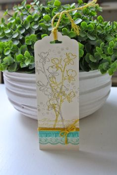 Happy Watercolor, Background Builders, Scalloped Tag Topper punch Stampin Up by Cards and Scrapping