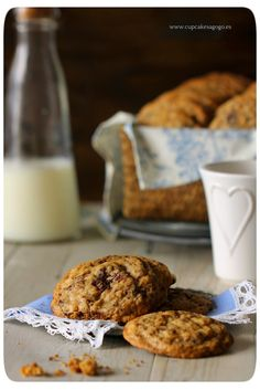 Cookies de avena, coco y chocolate