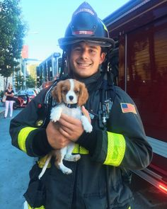 Thanks Firefighter Kyle for making fire drills so fun!!! 🐶🔥✨Apparently they have treats for me at the station!