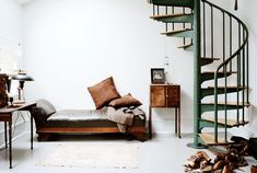 """In a new book, """"The Inspired Home: Nests of Creatives,"""" two creative types with a good eye for design share images of 17 homes, handpicked for their owners' personal style. Interior Architecture, Interior And Exterior, Staircase Architecture, Attic Renovation, My New Room, Interiores Design, My Dream Home, Home And Living, Interior Inspiration"""