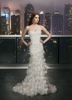View our wedding dress collections featuring the latest trends in bridal! A wedding dress option for every bride. Find your gown and book an appointment now! Metallic Wedding Dresses, Wedding Dress With Feathers, Wedding Dresses 2014, Wedding Dress Styles, Designer Wedding Dresses, Bridal Dresses, Wedding Gowns, Gown Designer, Wedding Bra