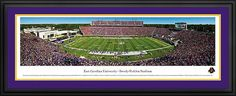 East Carolina Pirates Framed Panoramic Poster Print - Dowdy-Ficklen Stadium