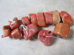Pieces of unused pink coral