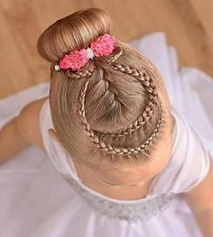 Which one from your favorite? Please comment Credit . Easy Little Girl Hairstyles, Baby Girl Hairstyles, Dance Hairstyles, Princess Hairstyles, Braided Hairstyles, Wedding Hairstyles, Competition Hair, Girl Hair Dos, Natural Hair Styles
