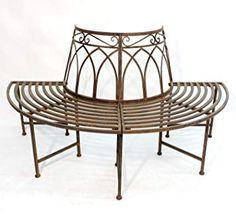 Banc de jardin en bois et en fonte | Jardin | Pinterest | Bancs de ...