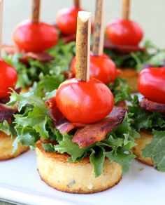 These Polenta BLT Appetizers will be a hit at your next party!