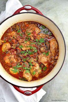 Chicken Cacciatore Recipe | shewearsmanyhats.com