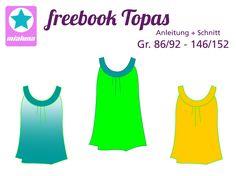 Topas ist ein luftig fallendes Sommertop oder Kleid.  Das Vorderteil wird gekräuselt. Die Rundpasse bildet gleichzeitig die Träger des Tops.  Topas ist die perfekte Begleiterin für die meisten sommerlichen Aktivitäten und kann aus...