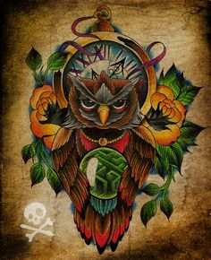 Commission - owl tattoo by *WillemXSM on deviantART