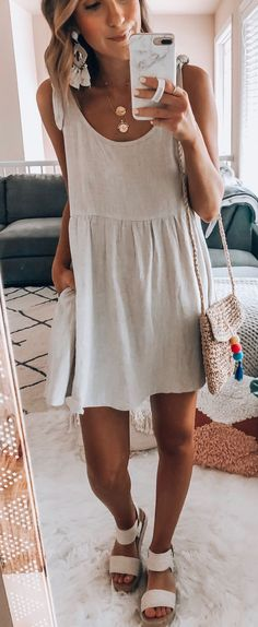 45 Impressive summer outfits that will save your life completely making you look beautiful, trendy and always ready to impress. Stylish Outfits, Cute Outfits, Fashion Outfits, Womens Fashion, 90s Fashion, Retro Fashion, Outfits Winter, Summer Outfits, Dress Summer
