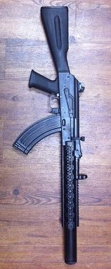 Suppressed Ak47, i'll never own one of these but one can dream.