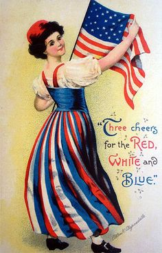 Three cheers for the red, white and blue!