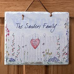 Home Sweet Home Personalized Plaque