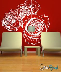Floral Decor | Stickerbrand wall art decals, wall graphics and wall murals.