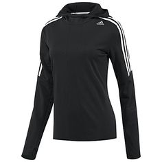 adidas Response Icon Hoodie'  Women's adidas Running Apparel RESPONSE ICON HOODIE $60.00 D85468 Black/White (D85468)