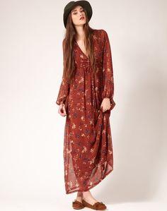 long sleeves long dress
