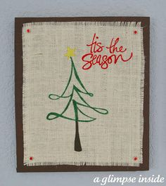 Burlap Christmas Wall Art (Swell Noel #39) | Positively Splendid {Crafts, Sewing, Recipes and Home Decor}