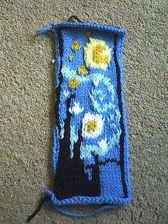 Starry Night mittens