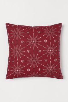 Husă de pernă cu motive - Roșu/cu stele - HOME
