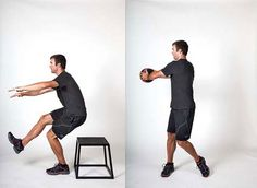 Exercises for Cyclists: How to prevent knee pain and back stiffness with squats and a medicine ball.