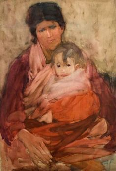 Frances Hodgkins Mother and child World Of Wearable Art, Auckland Art Gallery, New Zealand Art, Nz Art, Examples Of Art, Neo, Mother And Child, Beautiful Paintings, Wood Carving