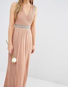 TFNC | TFNC WEDDING Pleated Embellished Maxi Dress $112.86