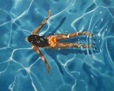 Gallery Henoch Artist Eric Zener notably paints realistic swimmers, divers and water scenes. Eric Zener, Large Painting, Figure Painting, Underwater Photography, Art Photography, Laura Lee, Underwater Painting, Beach Artwork, Pictures To Paint